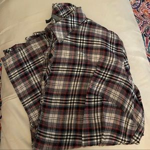 Gap Body XS flannel plaid Pajama Set